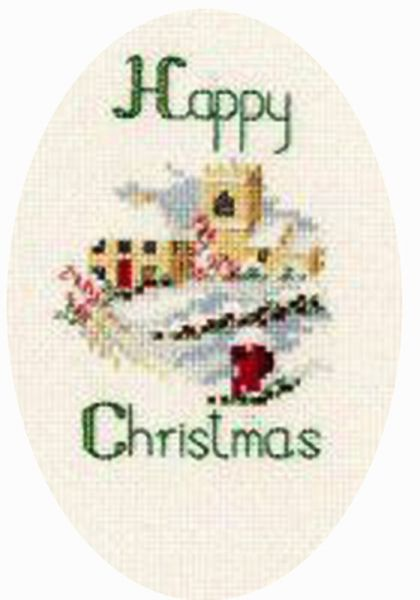 Christmas Village Card Cross Stitch Kit